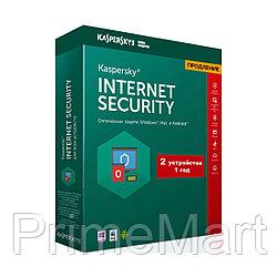 Kaspersky Internet Security 2021 Box 2 пользователя 1 год продление