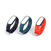Сменные браслеты для Xiaomi Mi Smart Band 5 (Original) (3 шт) Черный/ Оранжевый/ Бирюзовый