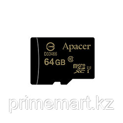 Карта памяти Apacer AP64GMCSX10U1-R 64GB + адаптер
