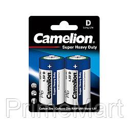 Батарейка CAMELION Super Heavy Duty R20P-BP2B 2 шт. в блистере