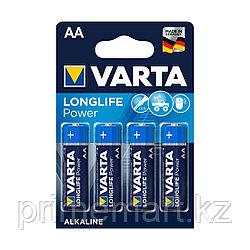 Батарейка VARTA Longlife Power Mignon 1.5V - LR6/AA 4 шт в блистере