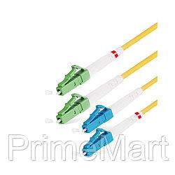 Патч Корд Оптоволоконный LC/APC-LC/UPC SM 9/125 Duplex 2.0мм 1 м