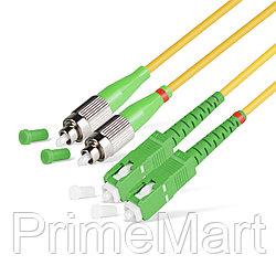 Патч Корд Оптоволоконный SC/APC-LC/APC SM 9/125 Duplex 2.0мм 1 м