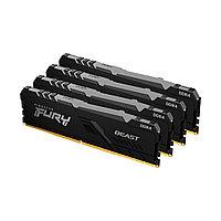 Комплект модулей памяти Kingston FURY Beast RGB KF432C16BBAK4/32 DDR4 32GB (Kit 4x8GB) 3200MHz