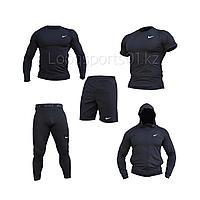 Компрессионный комплект, одеждадля спорта Рашгард 5в1 Nike