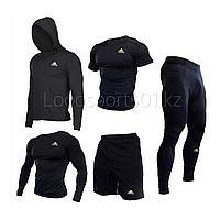Компрессионный комплект, одеждадля спорта Рашгард 5в1 Adidas