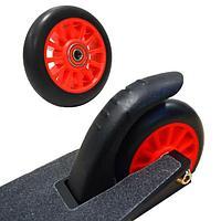 Колеса для трюкового самоката пластиковые диски диаметр 100 мм ABEC 7 красные