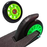 Колеса для трюкового самоката пластиковые диски диаметр 100 мм ABEC 7 зеленые