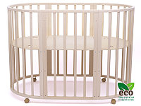 Детская кроватка Tomix Malta 8 в 1 Слоновая кость с маятником