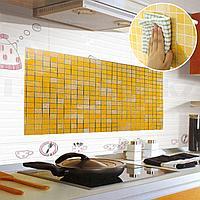 Кухонная наклейка на кафельную плитку 90х60 в желтых оттенках
