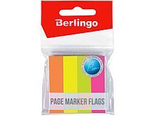 Закладки клейкие Berlingo, 12х50мм, 100 листов х 4 неоновых цвета