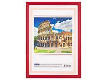 Рамка пластиковая, OfficeSpace, e284961, красная, 21х30 см