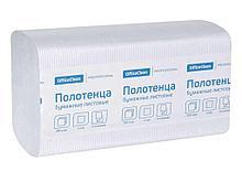 """Полотенца бумажные OfficeClean """"Professional"""", 1 слойные, 250 листов 21х21.6 см,  V, белые"""