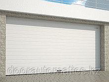 Гаражные секционные ворота из алюминиевых сэндвич-панелей с торсионным механизмом RSD02ALU