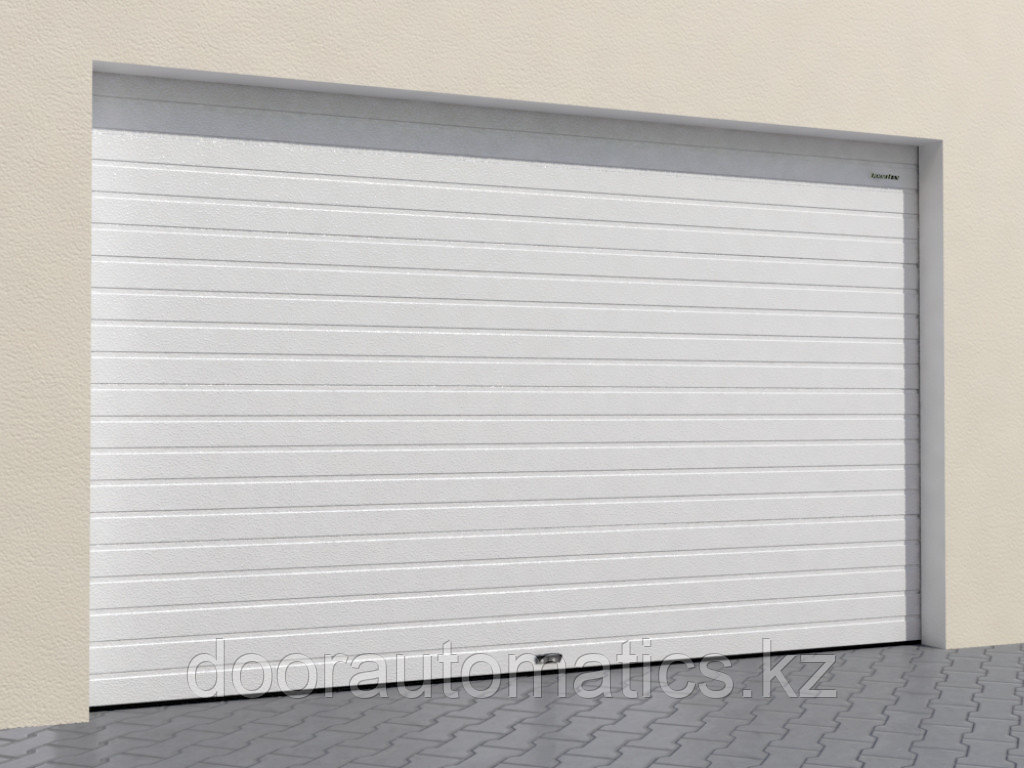 Гаражные секционные ворота из стальных однослойных панелей с торсионным механизмом RSD02-SLP