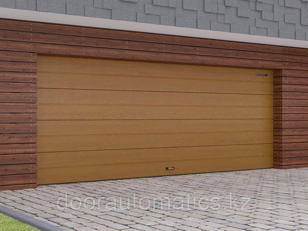 Гаражные секционные ворота из стальных сэндвич-панелей с торсионным механизмом RSD02
