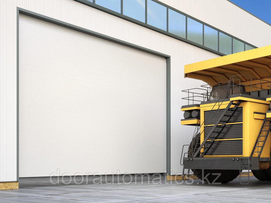 Промышленные секционные ворота из алюминиевых сэндвич-панелей с торсионным механизмом ISD03ALU