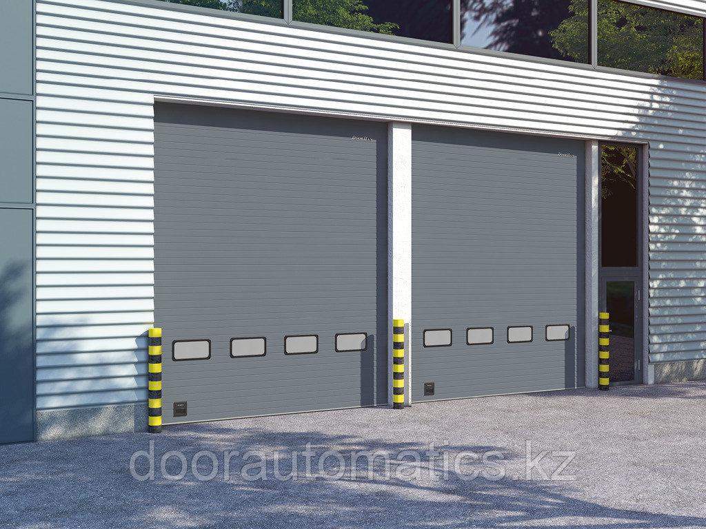 Промышленные секционные ворота из стальных сэндвич-панелей с торсионным механизмом ISD01