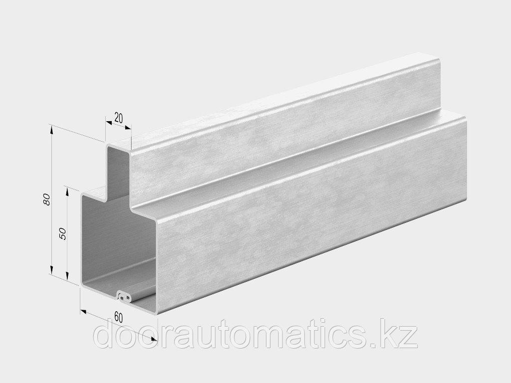 Профиль для ворот универсальный Т-образный 80х60х1,5