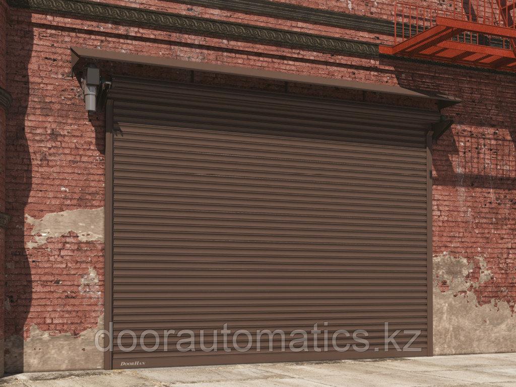 Рулонные ворота из стальных профилей (взломоустойчивые) RH117, RHS117P с вальным электроприводом