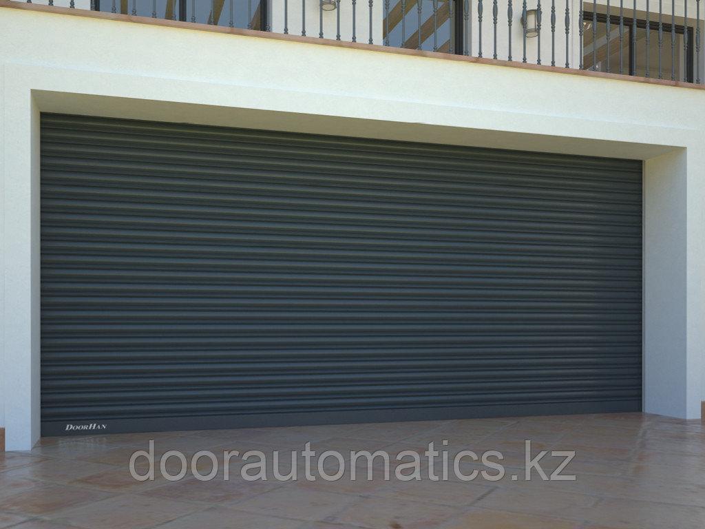 Рулонные ворота из стальных профилей (взломоустойчивые) RH117/08, RHS117P/08 с внутривальным электроприводом