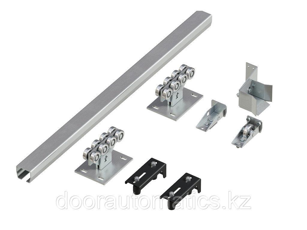 Система роликов и направляющих для балки х/к 71х60х3,5 L=6000мм