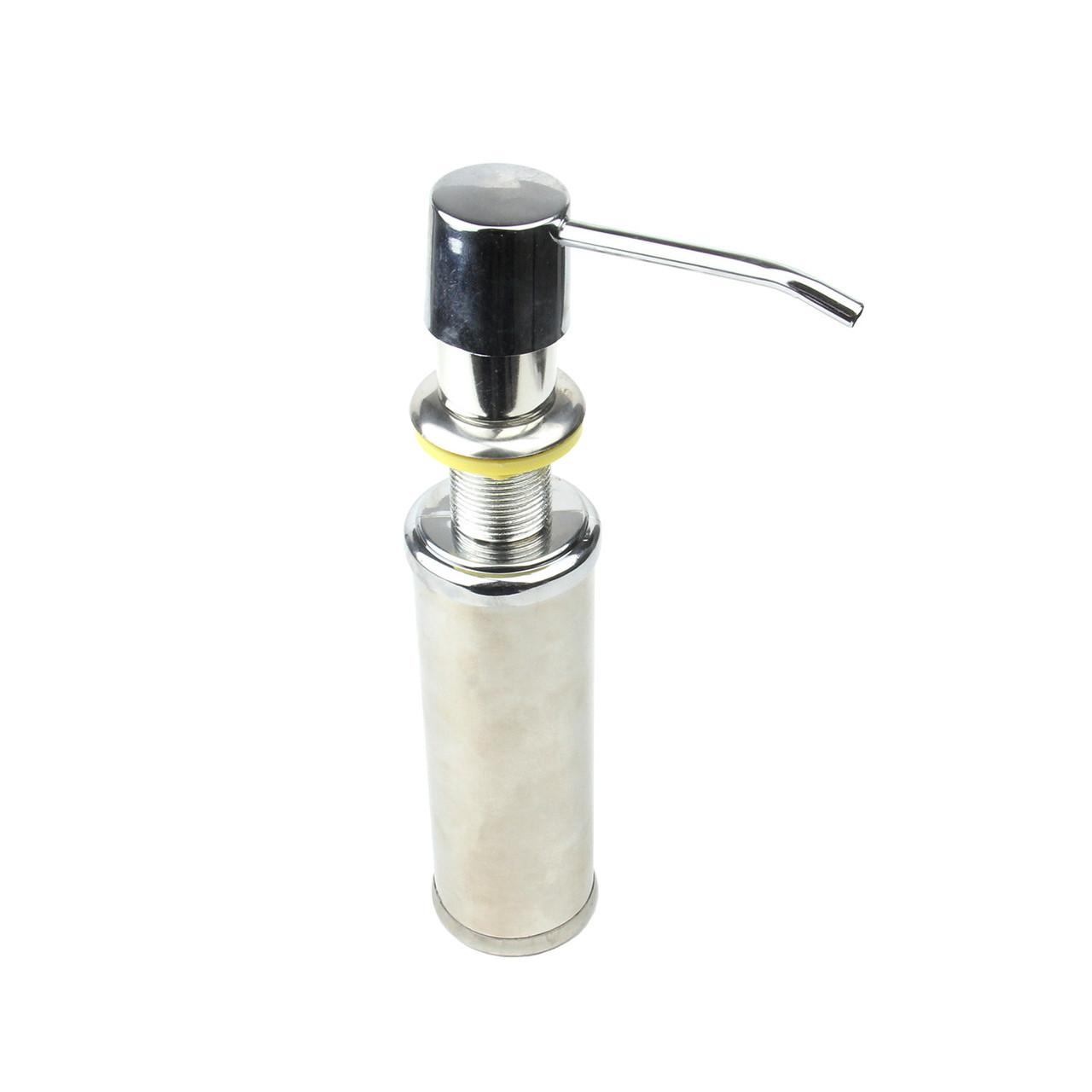 Дозатор для мыла встраиваемый (хром)