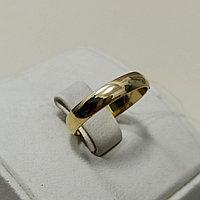 Обручальное кольцо / желтое золото / 17 размер