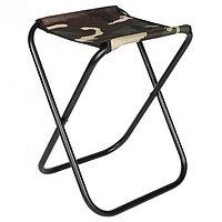 Складной стул (38,5х32,5х40см)(1,28кГ)(труба сталь Ø16х1мм)(макс.нагрузка: 90кГ)(камуфляж), R 86750