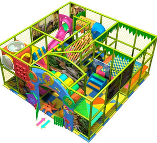 Игровой лабиринт тарзанки, бассейн с шариками