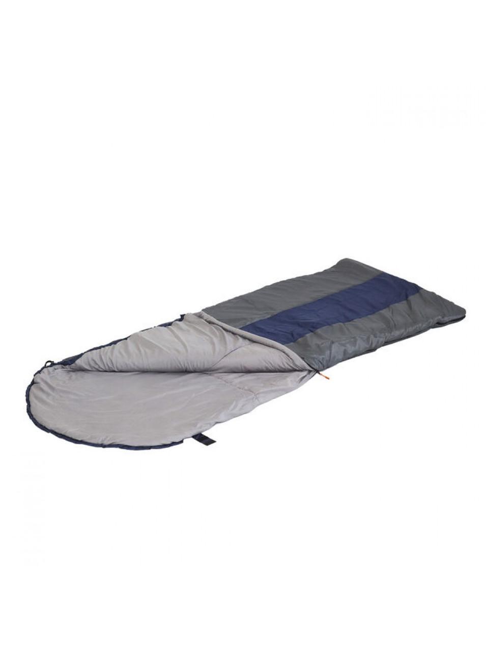 """Спальный мешок с подголовником """"СЛЕДОПЫТ- Traveller XL"""", 190+35х85 см.,3х слойный, цв.темно-серый/5/2316"""