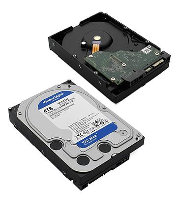 HDD SATA 4000 GB Western Digital Blue, WD40EZAZ, 5400rpm, 256MB cache, SATA 6 Gb/s