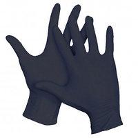 Перчатки нитриловые, неопудренные, нестерильные, размер L, черные, 100 шт/упак