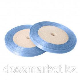 Лента атласная для прошивки документов, голубая, 27 м, ширина 5 мм