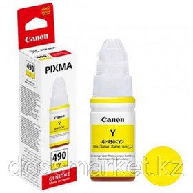 Чернила Canon INK GI-490 Y для PIXMA G1400/2400/3400, желтые, 70 мл