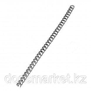 6,4 мм. Металлические черные пружины для переплета, для сшивания 1-30 листов, шаг 3:1, 100 шт/упак