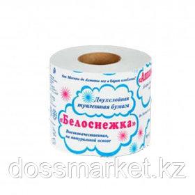 """Туалетная бумага рулонная """"Белоснежка"""", 23 метра, 2-х слойная, белая"""