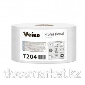 Туалетная бумага рулонная Veiro, 170 метров, 2-х слойная, белая