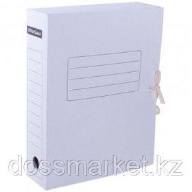 Папка архивная OfficeSpace, 75*250*320 мм, вместимость 700 листов, с завязками, белая