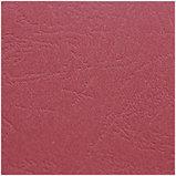 """Подложки для переплета картонные OfficeSpace, А4, 230 гр, красные с тиснением """"кожа"""", 100 шт., фото 3"""