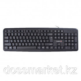 Клавиатура проводная X-Game XK-100UB, USB, ENG/RUS/KAZ, черная