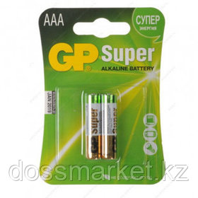 Батарейки GP Super мизинчиковые АAA LR03 24A, 1.5V, алкалиновые, 2 шт./уп, цена за упаковку