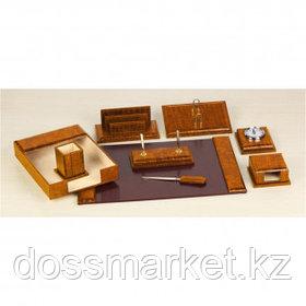Набор настольный Grand, 9 предметов, дерево, темно-коричневый