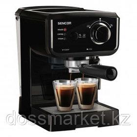 Кофеварка Sencor SES 1710BK, рожковая, капучино и эспрессо, 1,5 л, черная