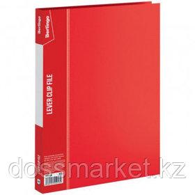 """Папка Berlingo """"Standard"""" с зажимом, А4 формат, корешок 17 мм, красная"""