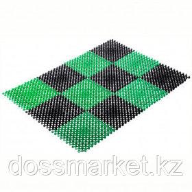 """Коврик входной Vortex """"Травка"""", размер 420*560 мм, черно-зеленый"""