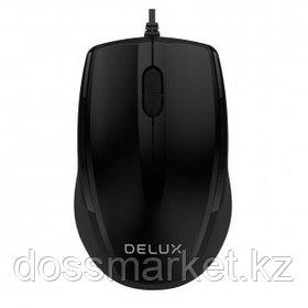 Мышь проводная оптическая Delux DLM-321OUB, USB, 3 кнопки, 1000 dpii, черная