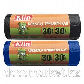 Мешки для мусора Klin на 30 л, 30 шт. в рулоне, ассорти