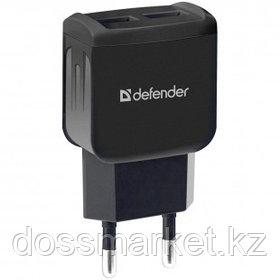 Универсальное USB зарядное устройство Defender EPA-13, 2*USB, 2.1 A, черный