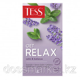 Чай Tess Get Relax, травяной чай, 20 пакетиков